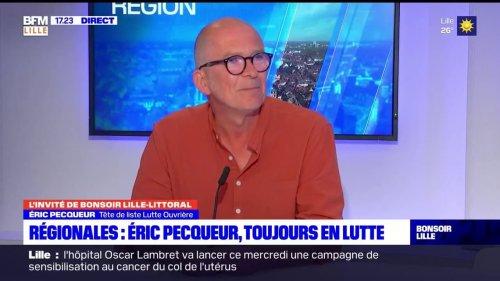 Régionales: pour Éric Pecqueur, tête de liste Lutte Ouvrière, choisir entre Xavier Bertrand et Sébastien Chenu reviendrait à choisir entre la peste et le choléra
