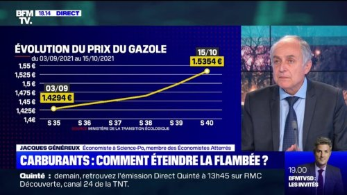 """Hausse des prix des énergies: """"C'est l'arbre qui cache la forêt"""", souffle Jacques Généreux, économiste à Science Po"""