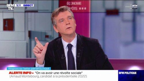 """Inflation: Arnaud Montebourg propose d'augmenter """"tout de suite"""" le SMIC de 10%"""