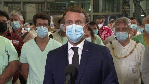 """Emmanuel Macron: """"Je ne crois pas qu'il y ait grande efficacité à manifester contre le virus"""""""