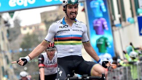 """Alaphilippe: """"Ce serait fort de gagner une étape du Tour avec le maillot de champion du monde"""""""