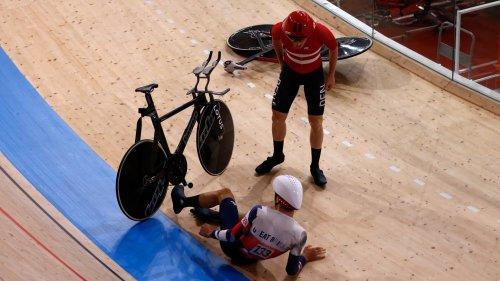 JO 2021 (cyclisme sur piste): chute spectaculaire entre le Danemark et la Grande-Bretagne