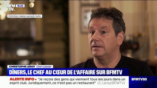"""Christophe Leroy: """"Ici on paye un forfait minimum de 130€ pour passer la porte (…) qu'on mange un plat ou qu'on ne prenne qu'un verre d'eau"""""""