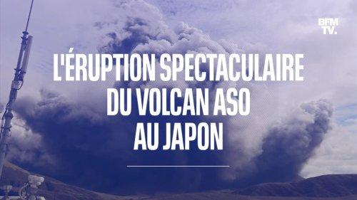 Les images de la spectaculaire éruption du volcan Aso au Japon