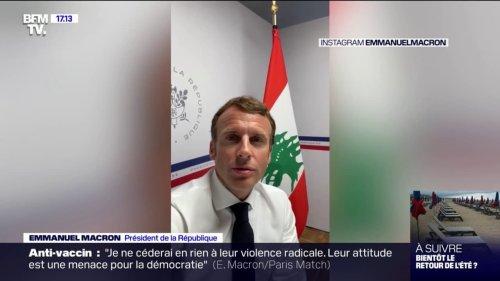 """Emmanuel Macron: """"Je suis considéré comme pleinement vacciné parce que j'ai eu le Covid et, 5 mois plus tard, une dose de vaccin"""""""