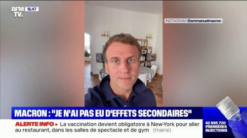 """Emmanuel Macron: """"Vous avez plus de chances de prendre des grands risques quand vous prenez votre voiture que lorsque vous vous faites vacciner"""""""