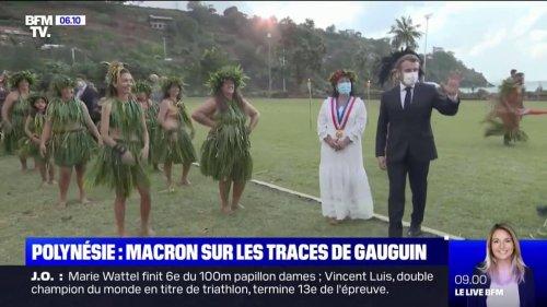 En Polynésie, Emmanuel Macron sur les traces de Gauguin