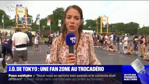 Un fan zone a été installée au Trocadéro à Paris pour suivre les Jeux Olympiques de Tokyo