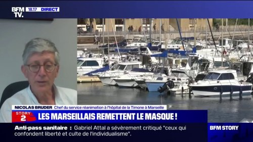 """Nicolas Bruder, chef du service réanimation à Marseille: """"Il n'y a pas eu de forme grave chez les patients vaccinés"""""""