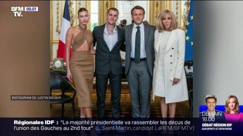 Emmanuel Macron reçoit Justin Bieber à l'Élysée