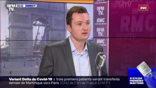"""Covid-19: Guillaume Rozier estime que l'impact de la dernière vague au Royaume-Uni est """"largement plus faible"""" grâce à la vaccination"""