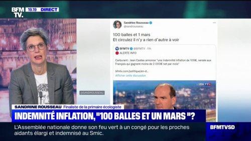 """Indemnité inflation: Sandrine Rousseau déplore """"qu'il ne se soit rien passé depuis les gilets jaunes sur la préparation de la hausse du prix de l'essence"""""""