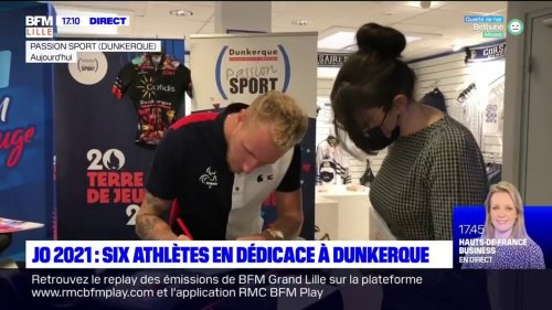 Dunkerque: six athlètes des JO de Tokyo en séance de dédicace