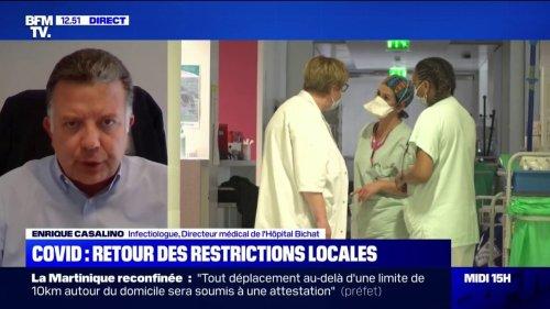 """Enrique Casalino, Infectiologue, directeur médical de l'Hôpital Bichat: """"Ce qui nous protège pour le moment, c'est que notre taux de vaccination est entre 3 et 4 fois supérieur à celui de la Martinique et de la Guadeloupe"""""""""""