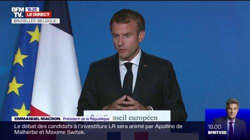 """Pour Emmanuel Macron, l'indemnité inflation est """"plus juste et mieux ciblée"""" que la baisse des taxes"""