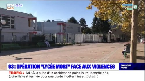 Seine-Saint-Denis: À Sevran, les parents manifestent contre la dégradation du climat scolaire au lycée Cendrars