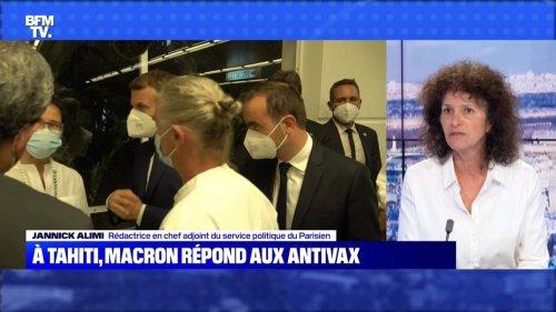 À Tahiti, Macron répond aux antivax - 25/07