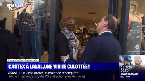 """""""Avez-vous reçu ma petite culotte?"""": le Premier ministre Jean Castex interpellé par une commerçante samedi à Laval"""