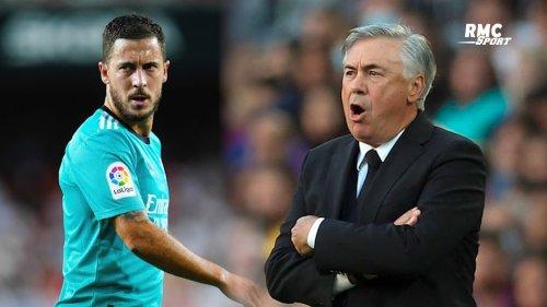 """Real Madrid : """"Un entraîneur lui préfère un autre joueur"""", Ancelotti ironise sur la situation de Hazard"""
