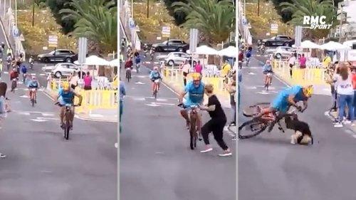 Cyclisme : Une spectatrice percute un coureur lancé sur le sprint final