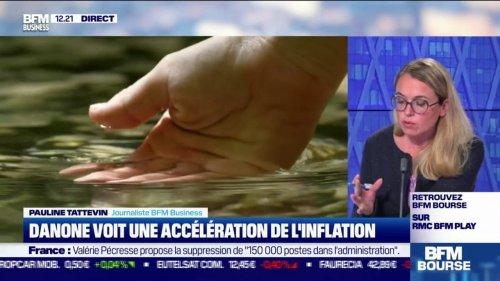 Danone voit une accélération de l'inflation