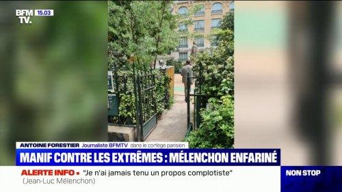 Qui est l'homme qui a enfariné Jean-Luc Mélenchon ?