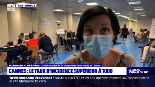 Cannes: le taux d'incidence dépasse les 1000 pour 100 000 habitants