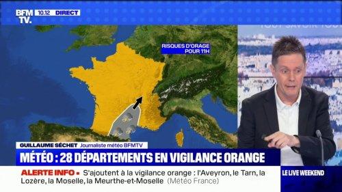 Orages: 28 départements placés en vigilance orange par Météo France