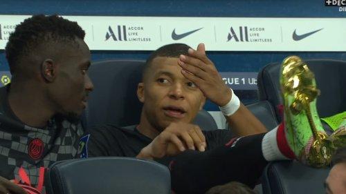 PSG-Montpellier: Quand Mbappé râle sur le banc contre Neymar
