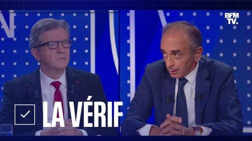 LA VÉRIF. Immigration, chômage... Mélenchon et Zemmour ont-ils dit vrai pendant le débat BFMTV?