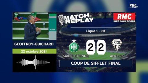 ASSE 2-2 Angers : Le goal replay d'une folle soirée à Geoffroy-Guichard avec les commentaires RMC