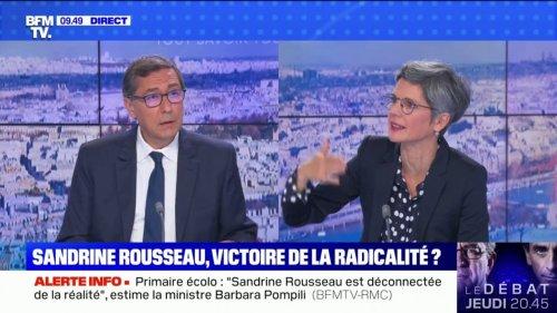 """Sandrine Rousseau (EELV): """"Il nous faut sortir des SUV, on ne peut pas se déplacer avec 1,5 tonne de fer"""""""