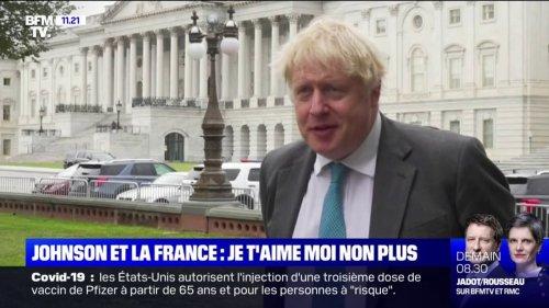 Sous-marins: le changement de ton de Boris Johnson avec la France