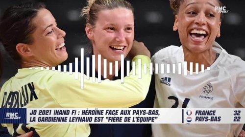 """JO 2021 (Hand F) : Héroïne face aux Pays-Bas, la gardienne Leynaud est """"fière de l'équipe"""""""