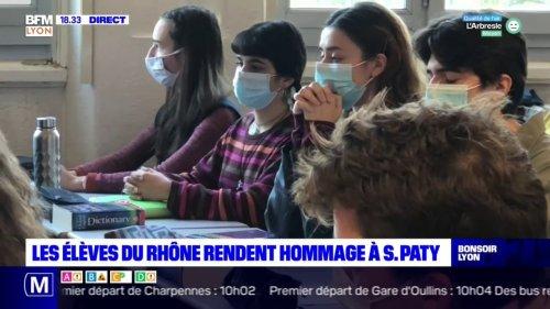 Les élèves du Rhône rendent hommage à Samuel Paty