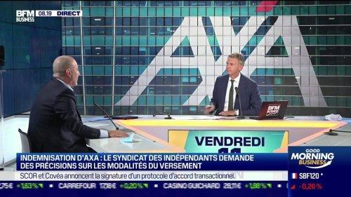 """Marc Sanchez (Président des indépendants et des TPE): """"Dans ce qui est proposé aujourd'hui, beaucoup ne s'y retrouvent pas"""" [...] Ce que AXA propose de faire, c'est d'indemniser 15% de la perte qui sera constatée"""""""