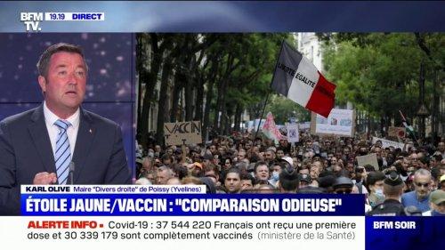 """Manifestation anti-vaccins: le maire de Poissy Karl Olive appelle à ce que la députée Martine Wonner """"se fasse virer"""""""