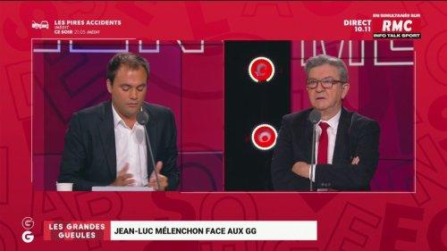 « Faites honneur à votre intelligence »: ça chauffe sur le plateau des Grandes Gueules entre Jean-Luc Mélenchon et Charles Consigny