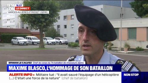 """Erwan Le Calvez, chef du bataillon de Maxime Blasco: """"Un hommage national aux Invalides"""" sera organisé"""