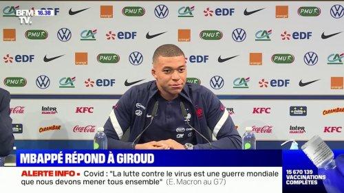 """Kylian Mbappé se dit """"affecté"""" par les propos d'Olivier Giroud après France-Bulgarie"""
