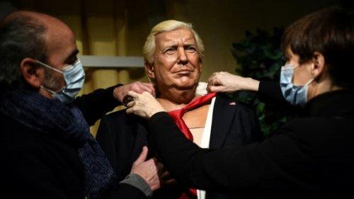 Grévin: au rebut depuis janvier la statue de cire de Trump, attise les convoitises