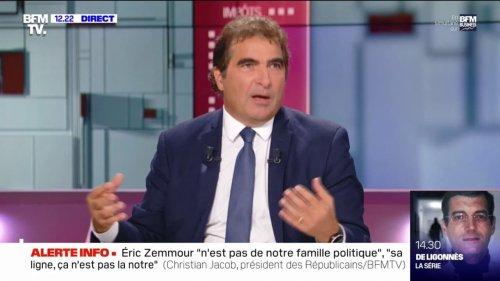"Christian Jacob: ""Non"", Eric Zemmour n'est pas raciste ni d'extrême droite"