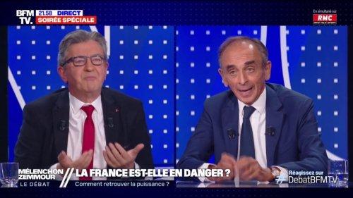 """""""Le 'Zemmouristan', ça existe"""": échange tendu entre Jean-Luc Mélenchon et Eric Zemmour"""