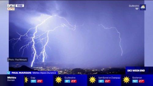 Alpes du Sud: orages impressionnants et coulées de boue