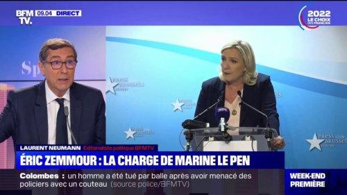 """Face à Éric Zemmour, Marine Le Pen """"change son fusil d'épaule"""": pour notre éditorialiste Laurent Neumann, on assiste désormais à """"une primaire de la droite extrême"""""""