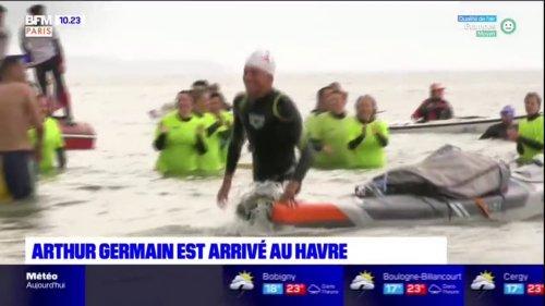 Une fin de périple émouvante pour Arthur Germain, arrivé au Havre ce samedi