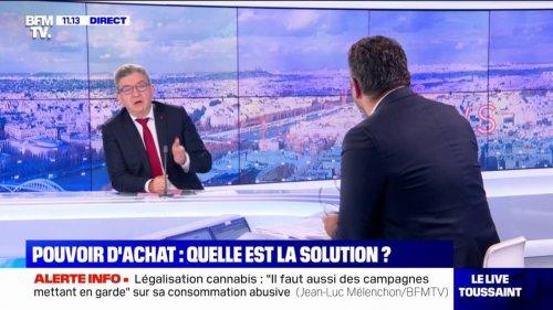 """Jean-Luc Mélenchon: """"Le deuxième tour, ce sera avec moi"""""""