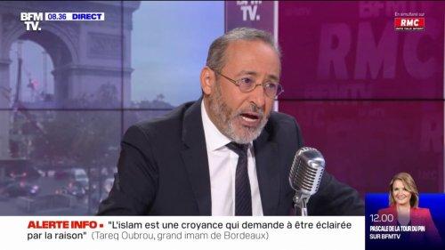 """Tareq Oubrou, grand imam de Bordeaux: """"Le droit des musulmans est le droit est Français"""""""