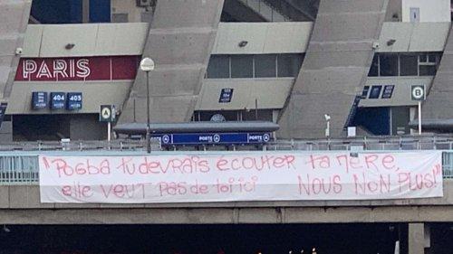 PSG: Des banderoles contre la venue de Pogba devant le centre d'entraînement et le Parc des princes