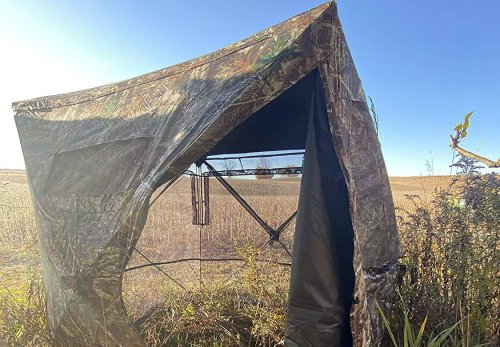 This crazy camouflage tent on Amazon is transparent from inside, and it's making my brain hurt